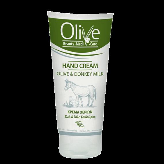 Crème pour les mains à l'huile d'olive et lait d'ânesse